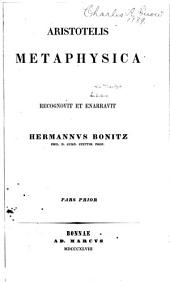 Aristotelis Metaphysica: Τόμος 1
