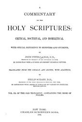 Commentary on the Holy Scriptures: Volume 9