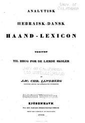 Analytisk hebraisk-dansk haand-lexicon