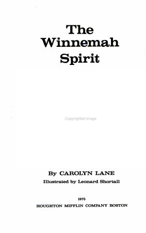 The Winnemah Spirit
