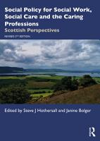 Social Policy for Social Work  Social Care and the Caring Professions PDF