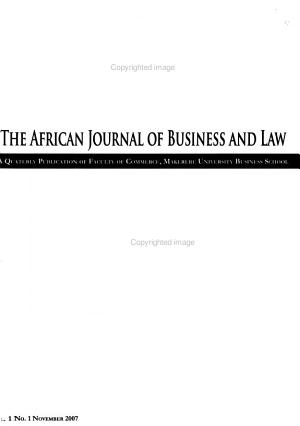 The African Journal of Business and Law