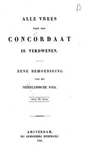 Alle vrees voor het concordaat is verdwenen: eene bemoediging voor het Nederlandsche volk