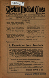 Western Medical Times: Volume 38, Issue 1