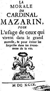 La Morale du Cardinal Mazarin