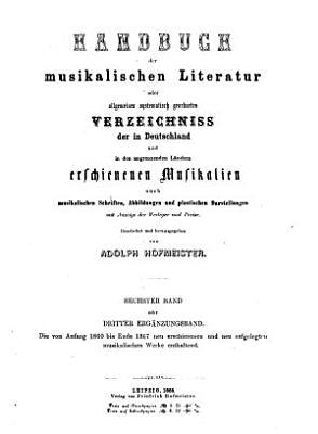 Handbuch der musikalischen Literatur PDF