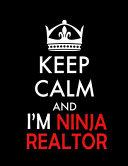 Keep Calm and I'm Ninja Realtor Notebook (Paperback, Black Cover)