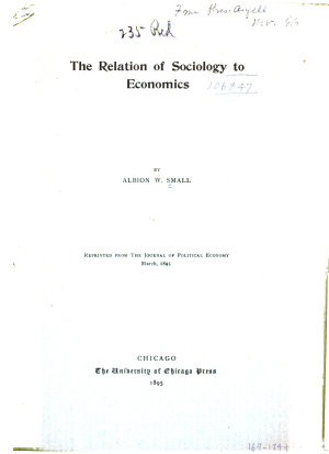 The Relation of Sociology to Economics     PDF