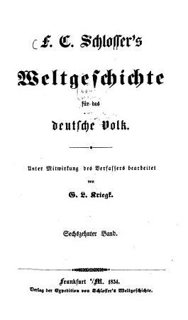 Weltgeschichte f  r das deutsche Volk PDF