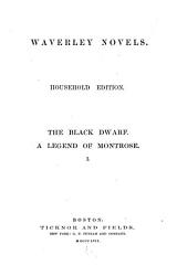 The Black Dwarf A Legend Of Montrose Book PDF