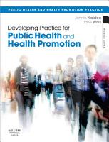 Developing Practice for Public Health and Health Promotion E Book PDF
