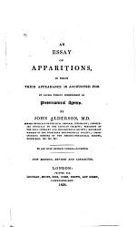 An Essay on Apparitions
