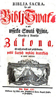 Biblia Sacra  to gest Biblj Swat    etc   With a bibliographical account of Bohemian Bibles and New Testaments  signed I  T  E  Senior gednoty bratrsk    i e  Johann Theophilus Elsner   PDF