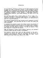 Proceedings of the 1st National Conference on Alcohol and Drug Abuse Prevention