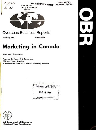 Marketing in Canada PDF