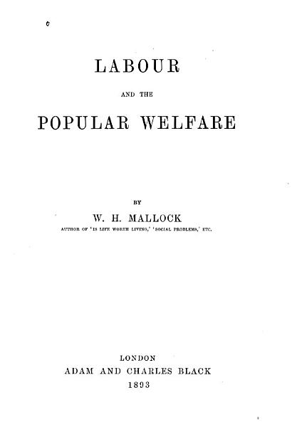 Download Labour and the Popular Welfare Book