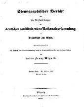 Stenographischer bericht über die Verhandlungen der Deutschen constituirenden nationalversammlung zu Frankfurt am Main: Band 5