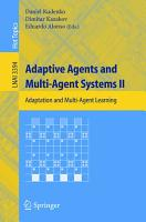 Adaptive Agents and Multi Agent Systems II PDF
