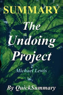 Summary   the Undoing Project Book