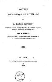 Notice biographique et littéraire sur J. Goethals-Vercruysse