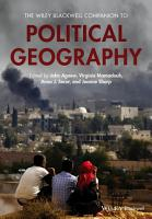 The Wiley Blackwell Companion to Political Geography PDF