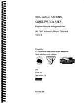 King Range National Conservation Area: Environmental Impact Statement