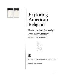 Exploring American Religion PDF
