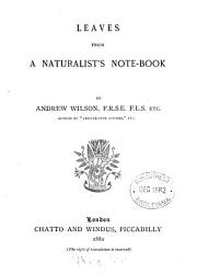 Leaves from a Naturalist s Notebook PDF