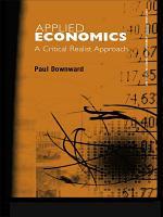 Applied Economics and the Critical Realist Critique PDF
