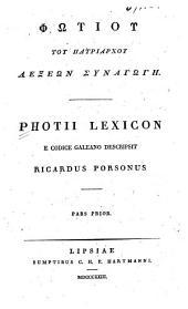Photii Lexicon e codice Galeano