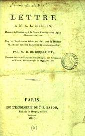Lettre à m. A.L. Millin ... sur les expériences faites en 1815 par le docteur [C.] Macléan dans les lazareths de Constantinople: Volume11