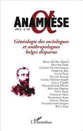 Généalogie des sociologues et anthropologues belges disparus