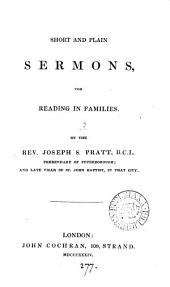 Short and plain sermons, for reading in families