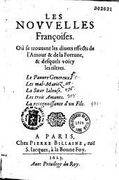Les Nouvelles françoises (par Charles Sorel). Où se trouuent les diuers effects de l'Amour et de la Fortune...