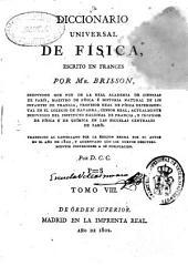 Diccionario universal de Física: Volumen 8