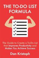 The To Do List Formula PDF