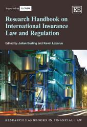 Research Handbook on International Insurance Law and Regulation