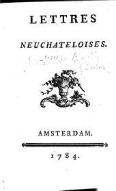 Lettres neuchâteloises