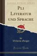 Pali Literatur und Sprache  Classic Reprint  PDF