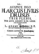 Marcus Livius Drusus, Trib. Plebis