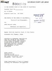 California. Supreme Court. Records and Briefs: S000549, Petition for Review