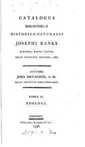 Catalogus bibliothecæ historico-naturalis Josephi Banks ... Auctore Jona Dryander, ...