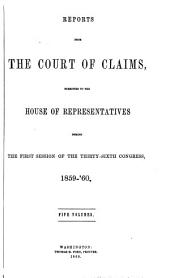 Reports from the Court of Claims Submitted to the House of Representatives: Volume 3