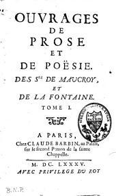 Ouvrages de prose et de poësie: Volume2
