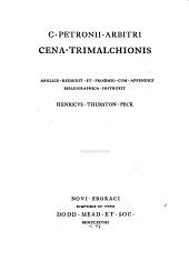 Trimalchio's Dinner
