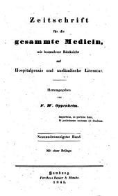 Zeitschrift für die gesammte Medicin: mit besonderer Rücksicht auf Hospitalpraxis und ausländische Literatur, Band 29