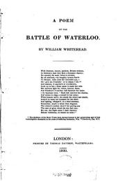 A Poem on the Battle of Waterloo