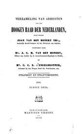 Strafrecht en strafvordering. 1846-1903