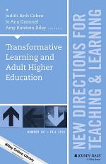 Transformative Learning and Adult Higher Education