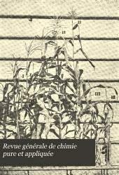 Revue générale de chimie pure et appliquée...: Volume6